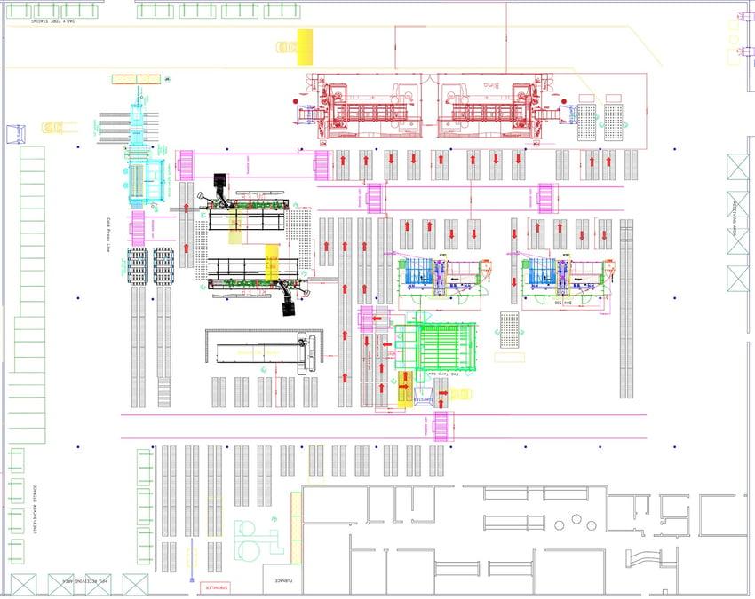Manufacturing layout schematic